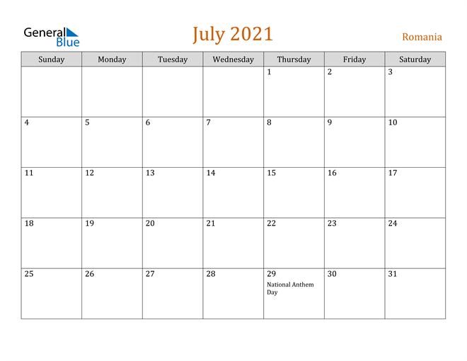 July 2021 Contemporary Orange PDF, Word and Excel Calendar Calendar