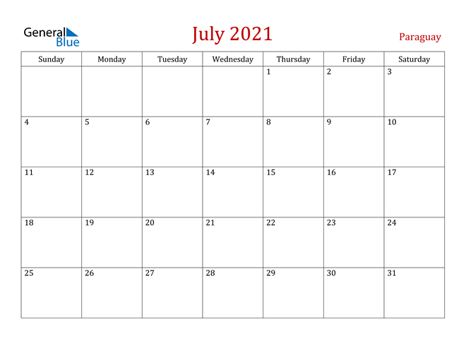 Image of July 2021 Dark and Red Professional Office Calendar Calendar