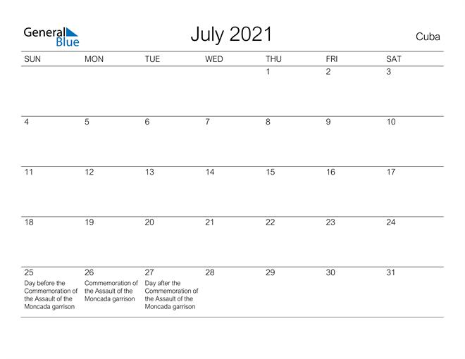 Image of July 2021 A Streamlined Design, The Perfect Printable Calendar. Calendar