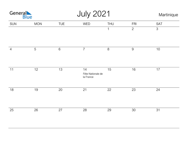Image of July 2021 A Streamlined Design, The Perfect Printable Calendar. Calendar
