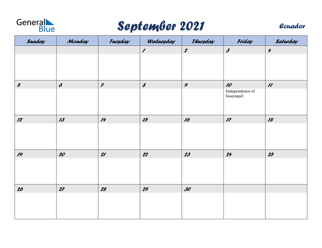 Image of September 2021 Italicized and Cool Blue, A Fun Calendar in PDF, Word and Excel Calendar