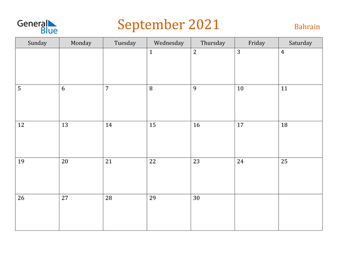Image of September 2021 Contemporary Orange PDF, Word and Excel Calendar Calendar