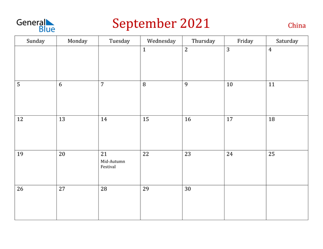 Image of September 2021 Dark and Red Professional Office Calendar Calendar