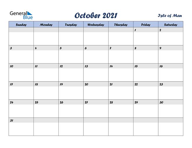 October 2021 Calendar with Holidays