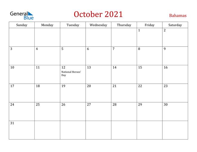 Image of October 2021 Dark and Red Professional Office Calendar Calendar