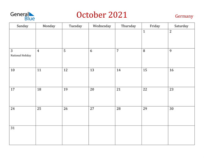 Image of October 2021 Dark and Red Professional Office Calendar Calendar