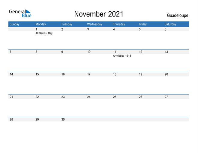 Fillable November 2021 Calendar