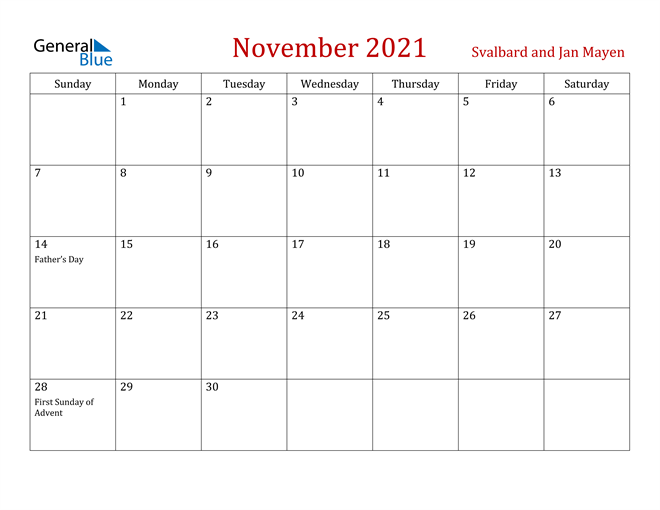 Image of November 2021 Dark and Red Professional Office Calendar Calendar