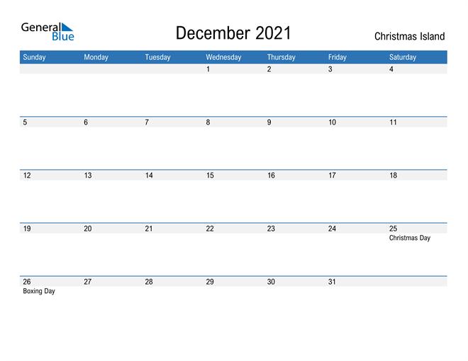 Fillable December 2021 Calendar