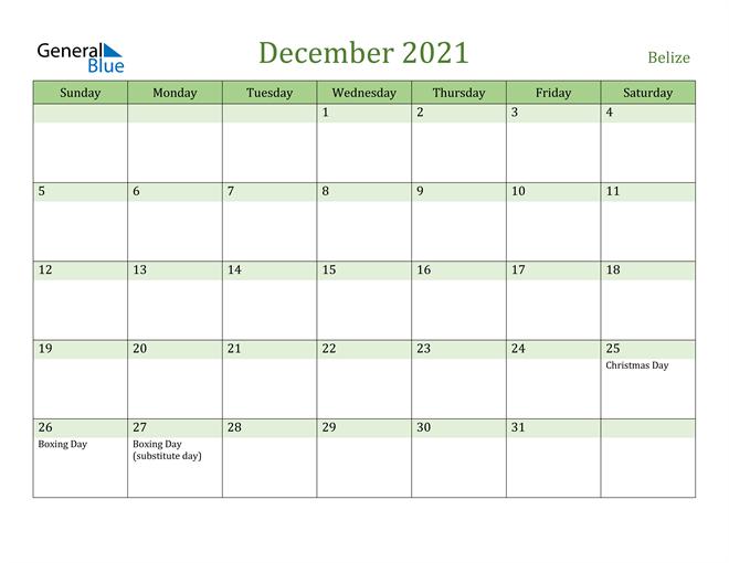 Image of December 2021 Cool and Relaxing Green Calendar Calendar