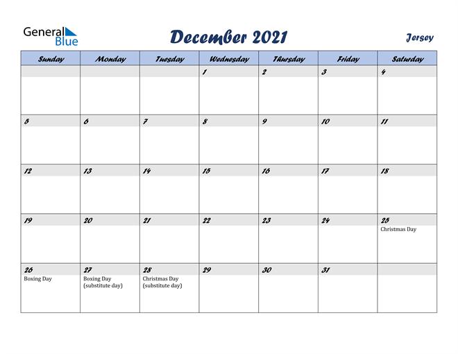 December 2021 Calendar with Holidays