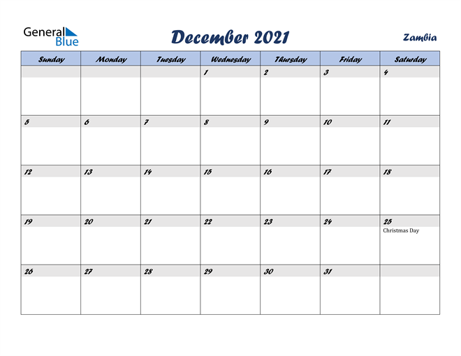 Image of December 2021 Italicized and Cool Blue, A Fun Calendar in PDF, Word and Excel Calendar