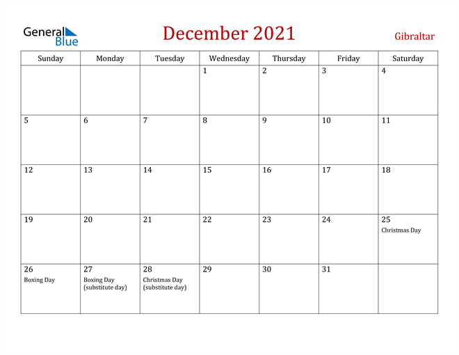 Image of December 2021 Dark and Red Professional Office Calendar Calendar