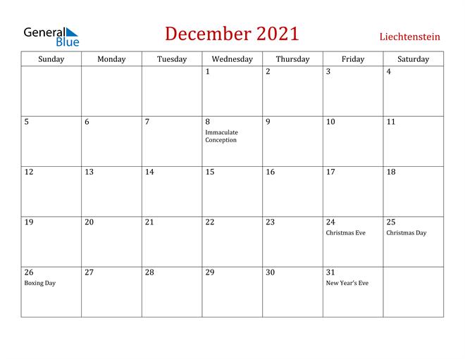 Image of December 2021 Dark and Red Professional Office Calendar Calendar