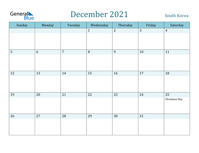 December 2021 Calendar with Holidays in PDF, Word, and Excel