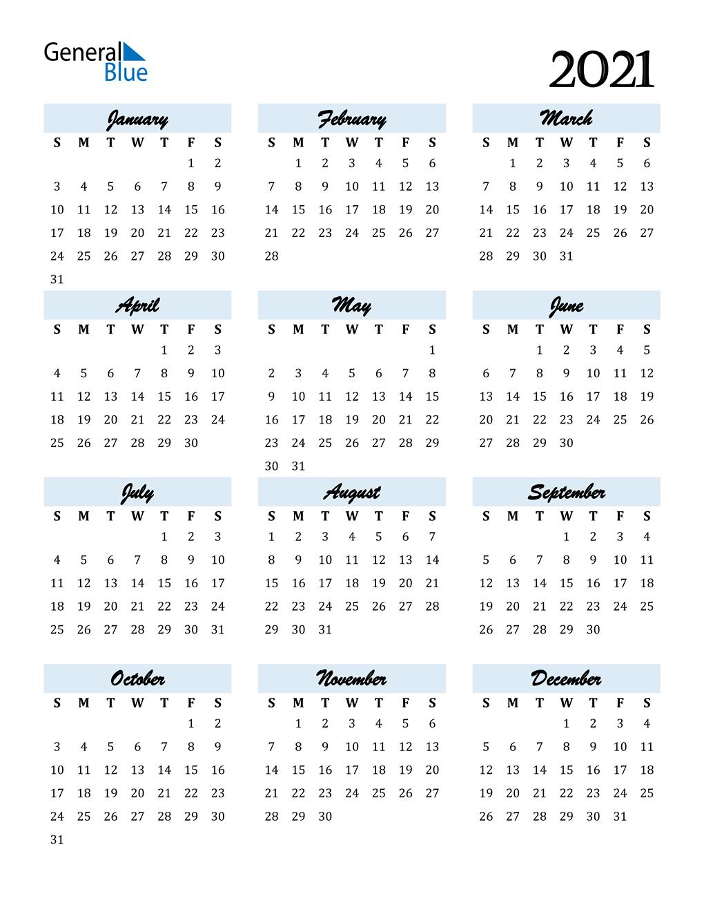 Kalender 2021 Edit Foto