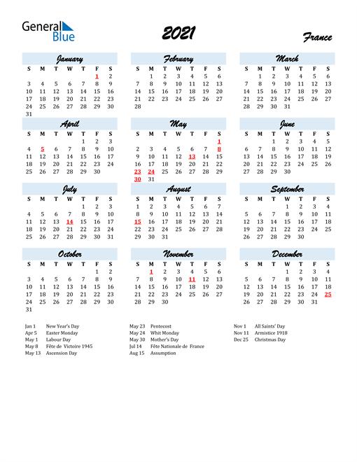 2021 calendar blue script with holidays portrait en fr