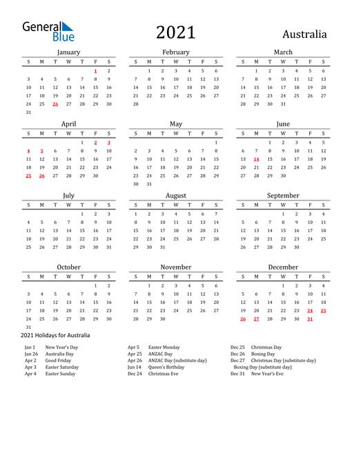 11+ 2021 Year 2021 Calendar Printable