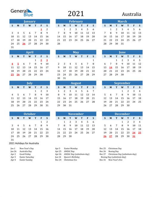Photos of Au Calendar 2021