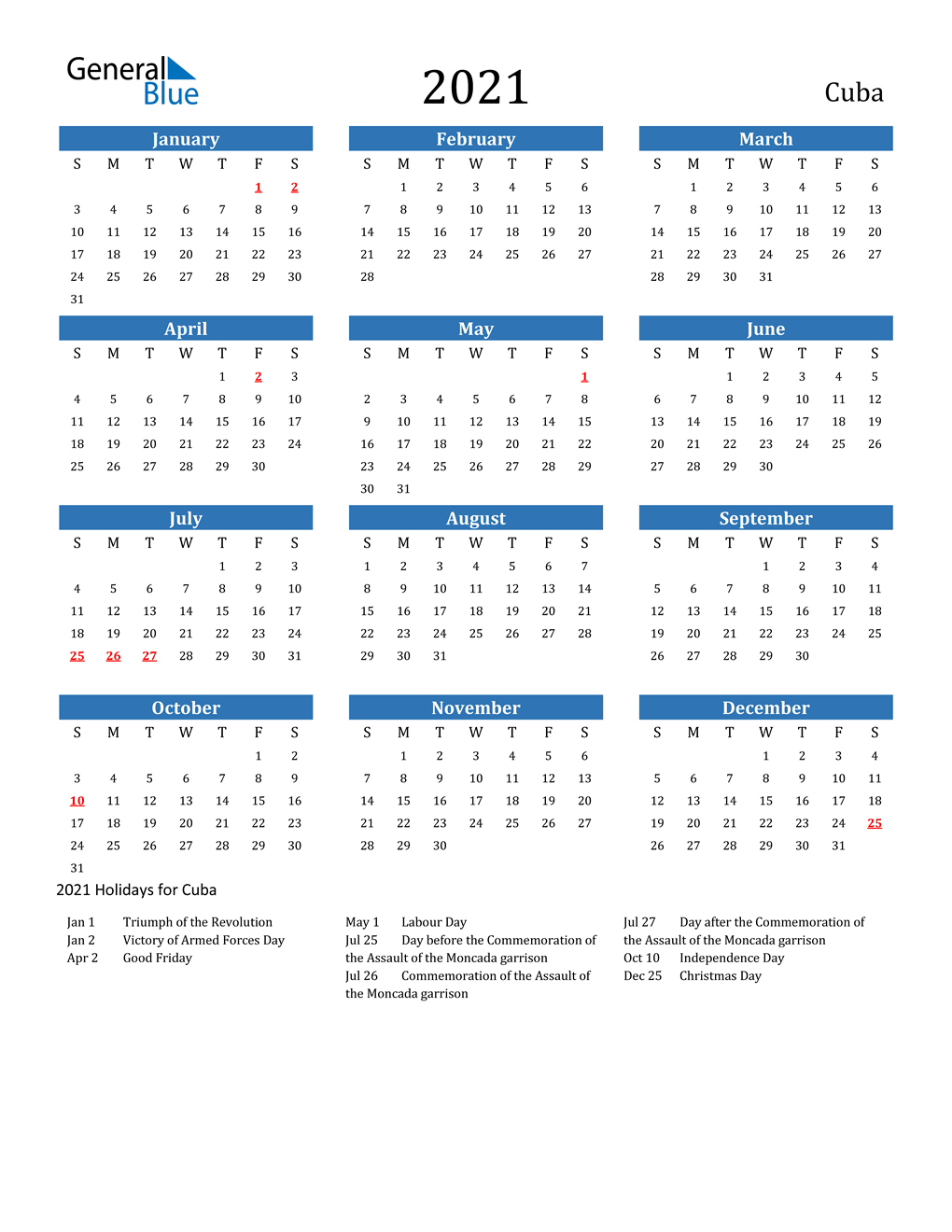 Christmas Holidays Calendar 2021-2021 Cuba 2021 Cuba Calendar With Holidays