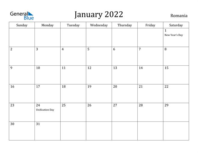 Printable Monthly Calendar