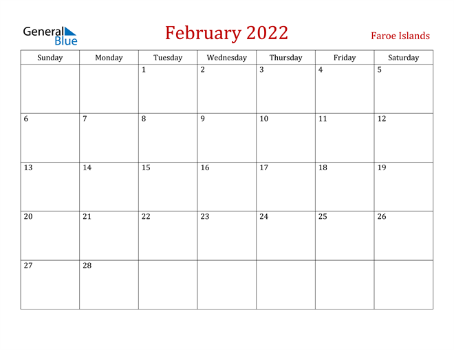 Image of February 2022 Dark and Red Professional Office Calendar Calendar