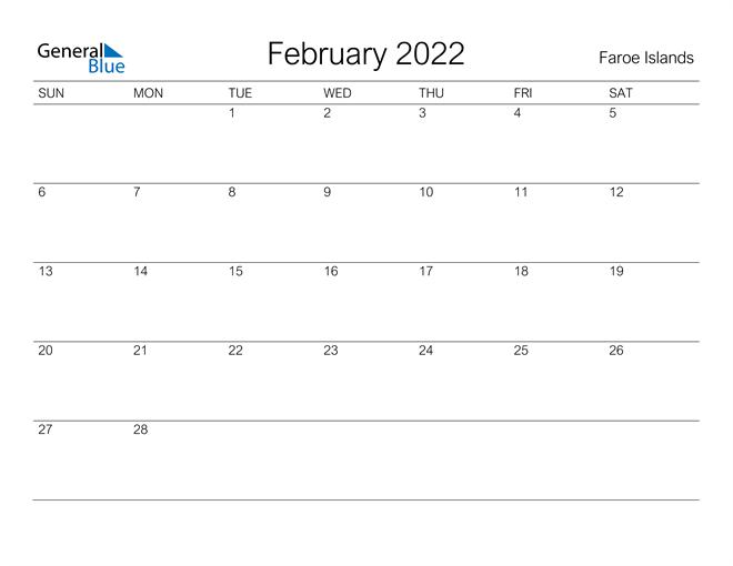 Image of February 2022 A Streamlined Design, The Perfect Printable Calendar. Calendar