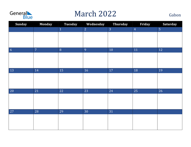 Image of March 2022 Stylish Dark Blue Calendar in PDF, Word and Excel Calendar