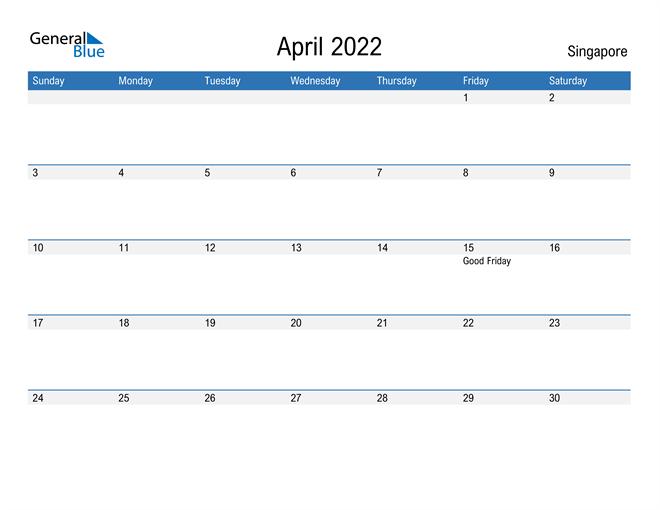 Fillable April 2022 Calendar