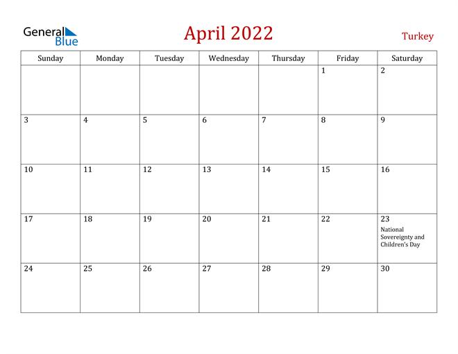 Image of April 2022 Dark and Red Professional Office Calendar Calendar