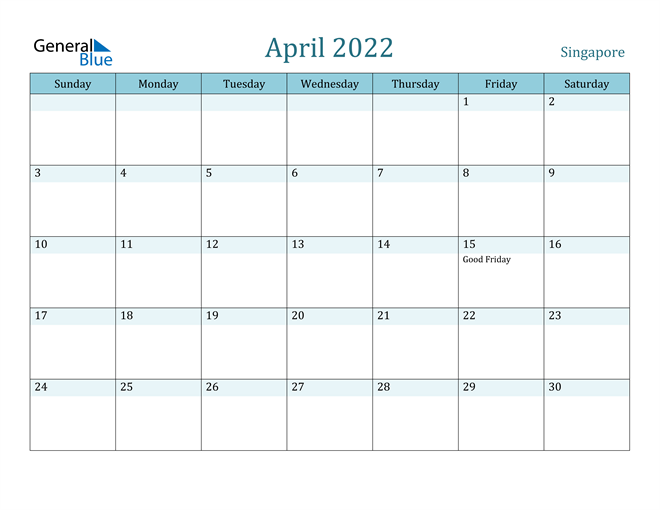 April 2022 Calendar with Holidays in PDF, Word, and Excel