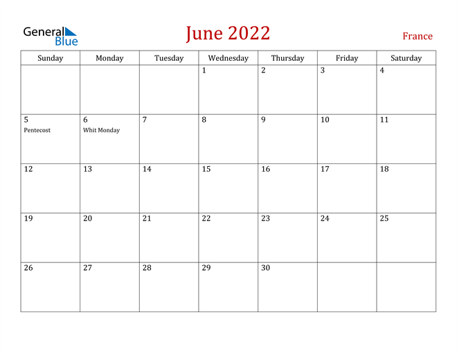 Image of June 2022 Dark and Red Professional Office Calendar Calendar