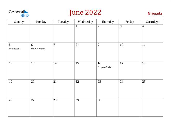 Image of June 2022 Dark and Red Professional Office Calendar Calendar
