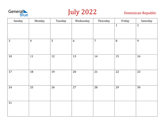 Image of July 2022 Dark and Red Professional Office Calendar Calendar