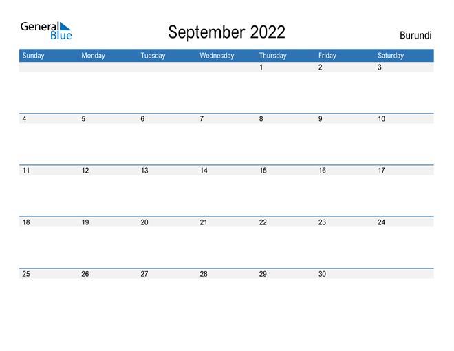 Fillable September 2022 Calendar