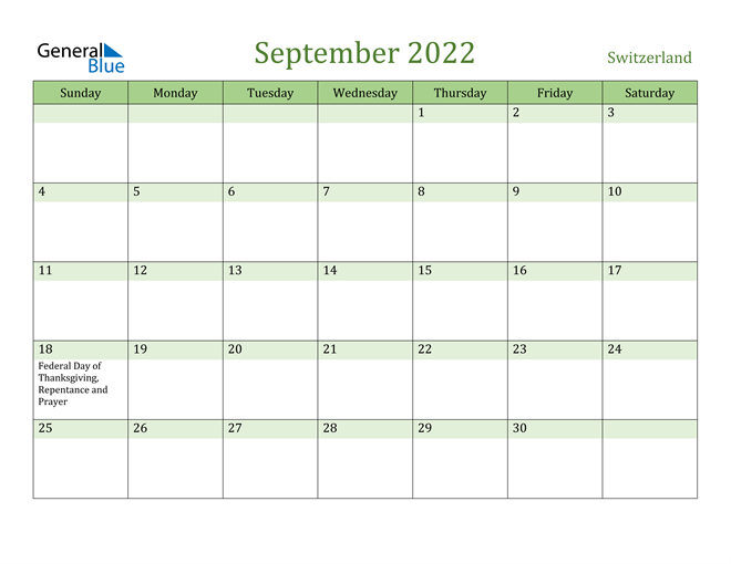 Image of September 2022 Cool and Relaxing Green Calendar Calendar