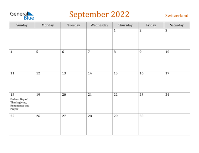 Image of September 2022 Contemporary Orange PDF, Word and Excel Calendar Calendar
