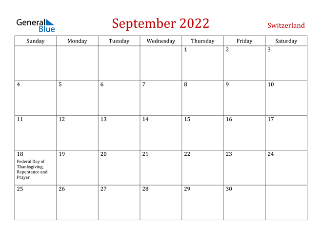 Image of September 2022 Dark and Red Professional Office Calendar Calendar