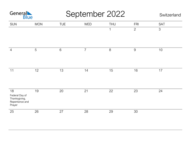Image of September 2022 A Streamlined Design, The Perfect Printable Calendar. Calendar