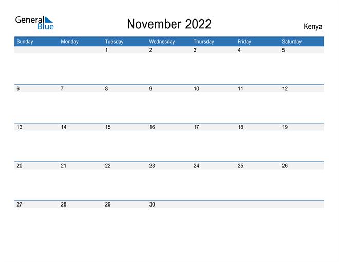 Fillable November 2022 Calendar