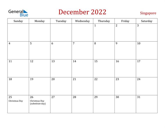 Image of December 2022 Dark and Red Professional Office Calendar Calendar