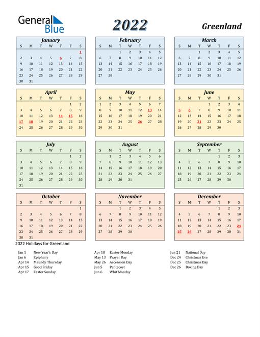 Greenland Calendar 2022