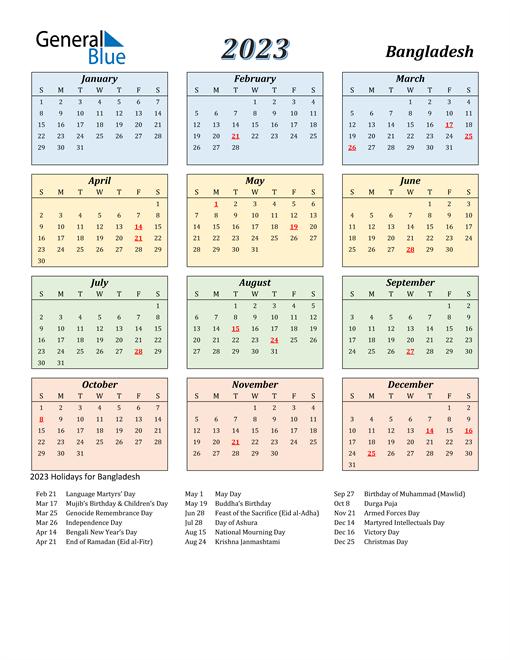 Bangladesh Calendar 2023