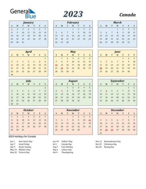 Canada Calendar 2023