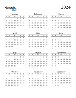 Image of 2024 2024 Printable Calendar Classic