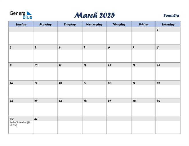 March 2025 Calendar with Holidays