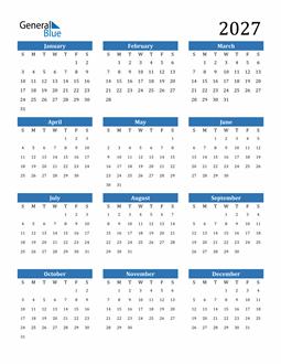 Image of 2027 2027 Calendar