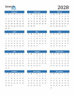 Image of 2028 2028 Calendar