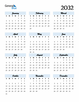 Image of 2032 2032 Calendar Cool and Funky