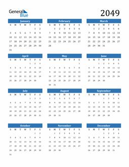 Image of 2049 2049 Calendar